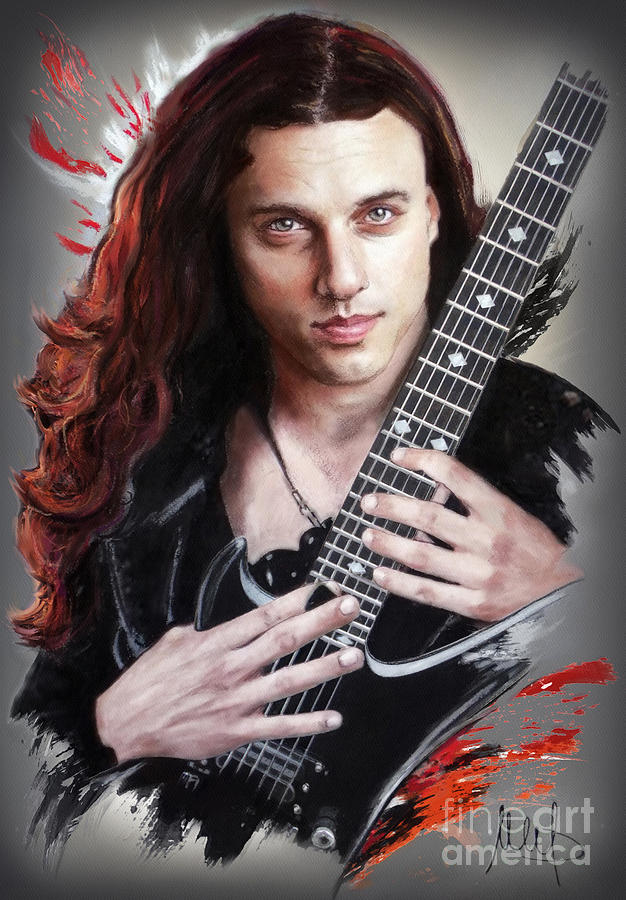 Chuck Schuldiner Mixed Media by Melanie D
