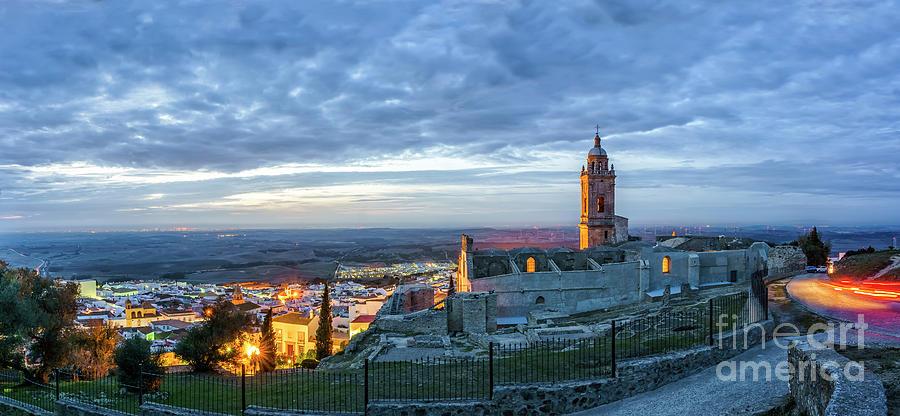 Church Of Saint Mary The Crowned Medina Sidonia Panorama Cadiz Spain Photograph