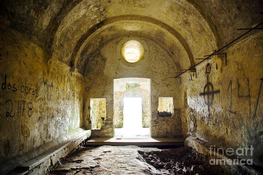 Aged Photograph - Church Ruin by Carlos Caetano