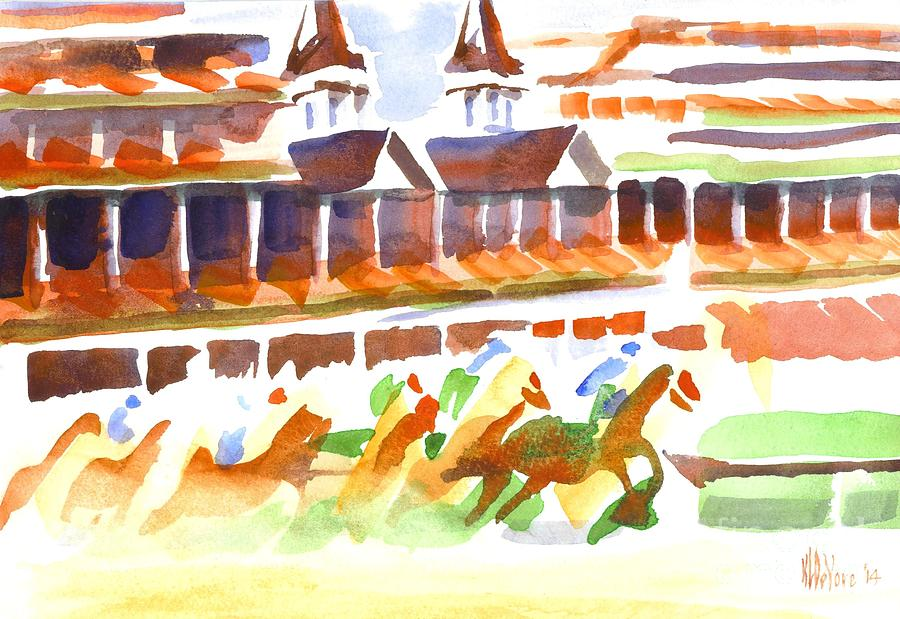 Churchill Downs Watercolor Painting - Churchill Downs Watercolor by Kip DeVore