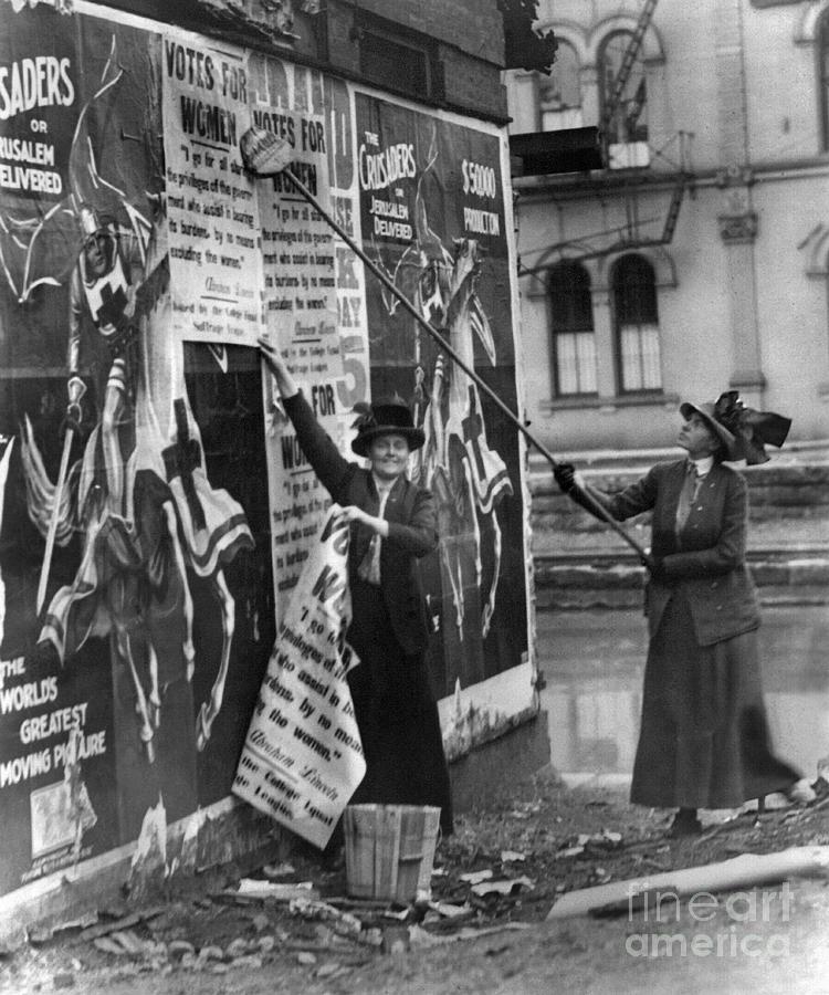 1912 Photograph - Cincinnati: Suffragettes by Granger