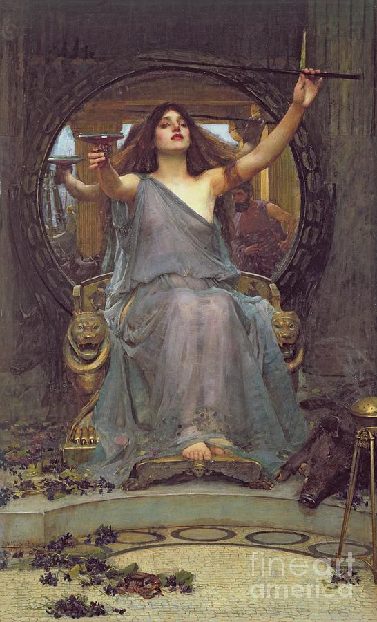 Circe Offering The Cup To Ulysses Painting - Circe Offering The Cup To Ulysses by John Williams Waterhouse