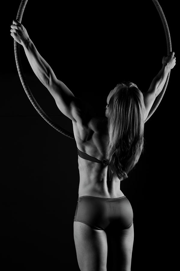 Hoop Photograph - Circle And Strength by Monte Arnold