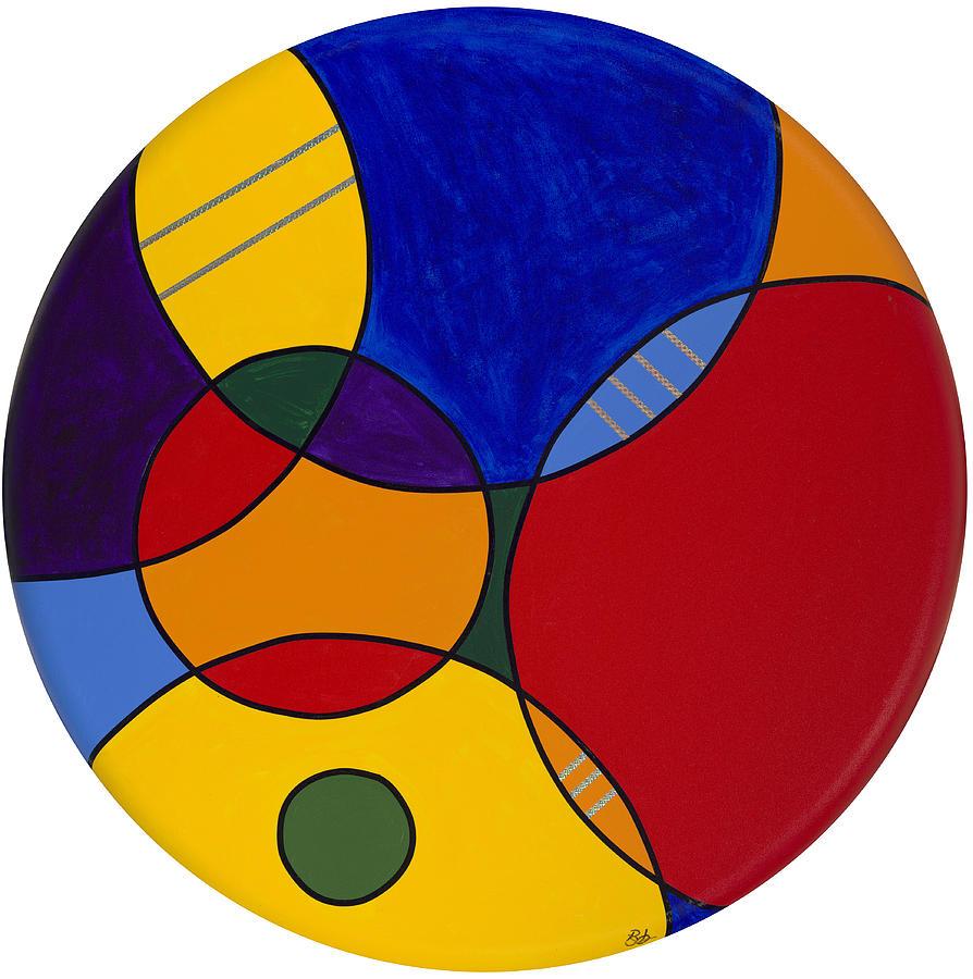 Abstract Canvas Painting Painting - Circles Abstract 1 by Patty Vicknair