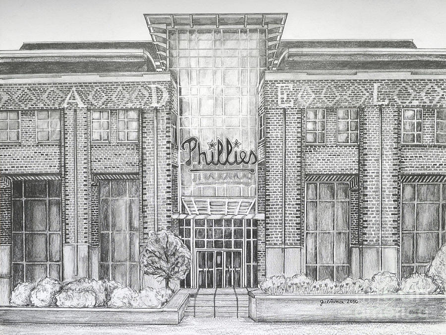 Citizens Bank Park Drawing - Citizens Bank Park by Juliana Dube