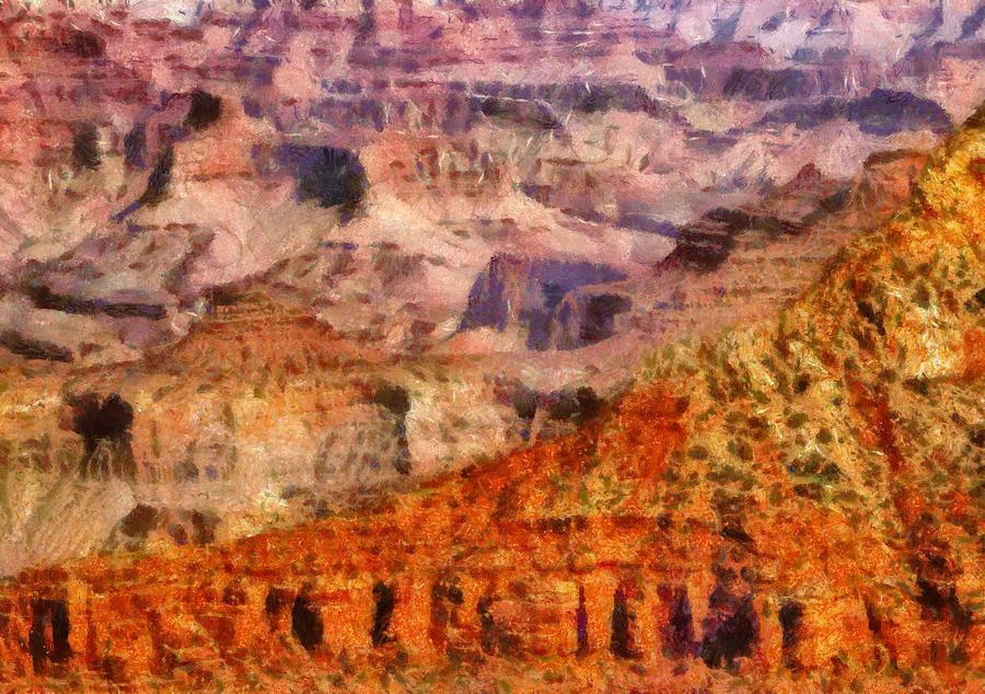 Savad Photograph - City - Arizona - Grand Canyon - Kabob Trail by Mike Savad