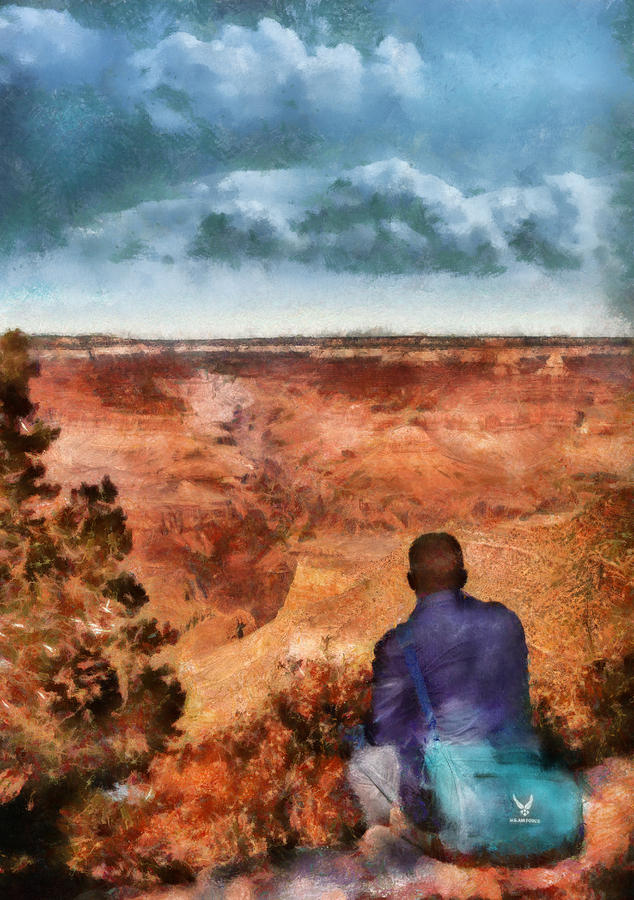 Savad Photograph - City - Arizona - Grand Canyon - The Vista by Mike Savad