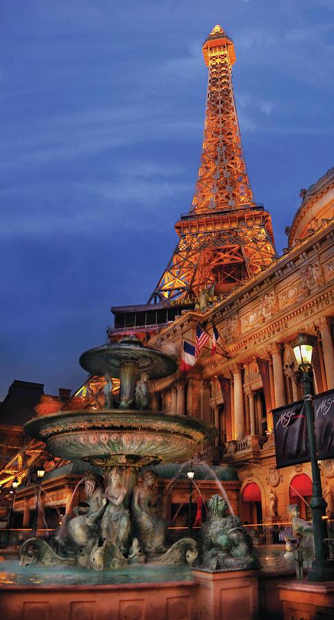 Savad Photograph - City - Vegas - Paris - Academie Nationale - Panorama by Mike Savad
