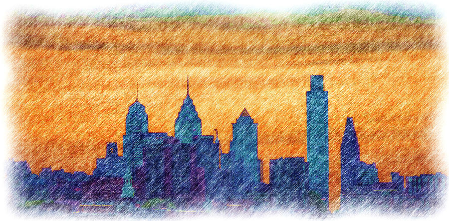 City Photograph - City In Pencil by Thomas  MacPherson Jr