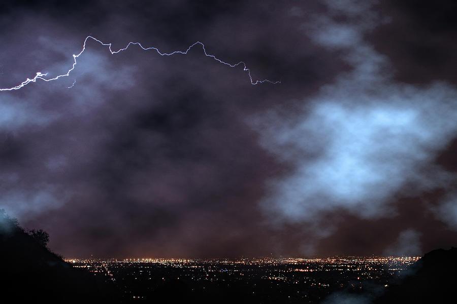 City Lights Night Strike Photograph