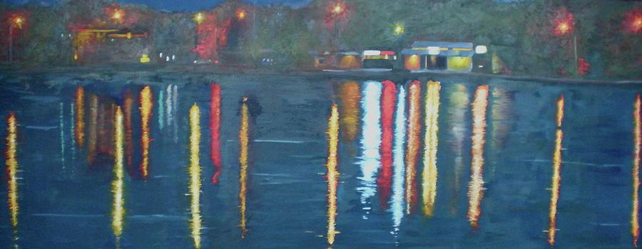 Reflections Painting - City Park  by Mackenzie  Matthews