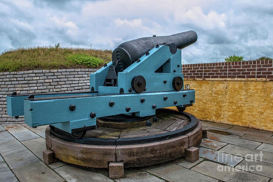 Civil War Cannon Photograph
