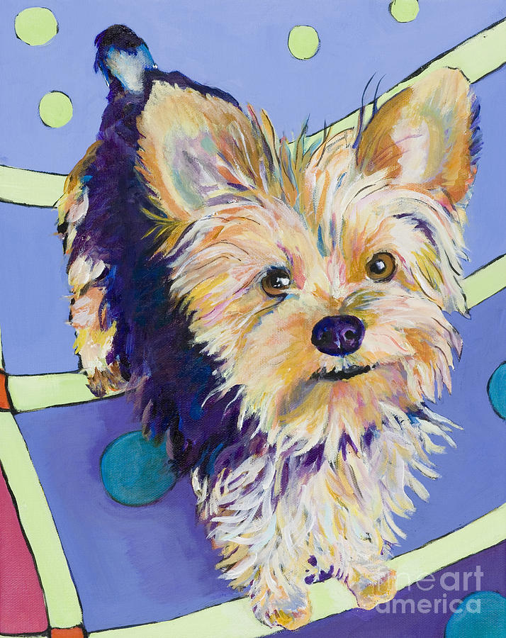 Pet Portraits Painting - Claire by Pat Saunders-White