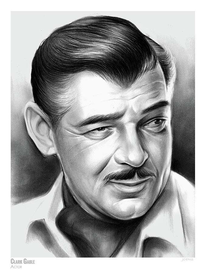 Clark Gable 26aug17 Drawing