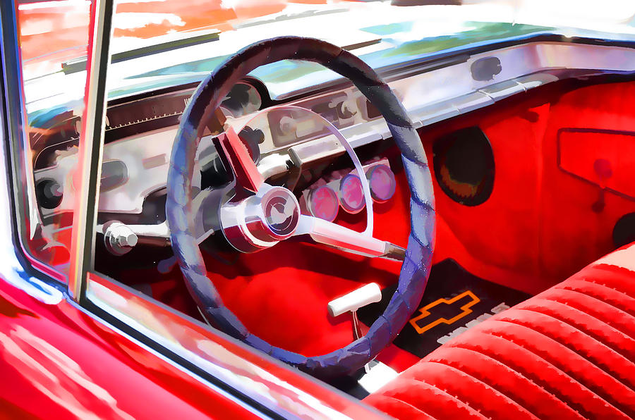 classic car interior 8 painting by lanjee chee. Black Bedroom Furniture Sets. Home Design Ideas