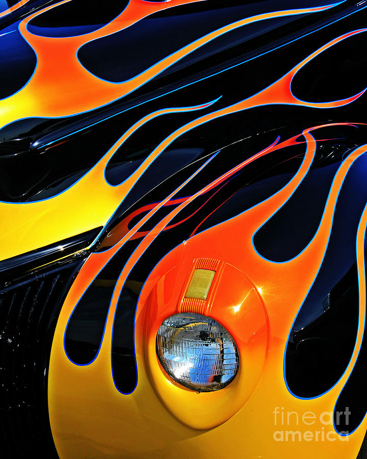 Hot Rod Photograph - Classic Flames by Perry Webster