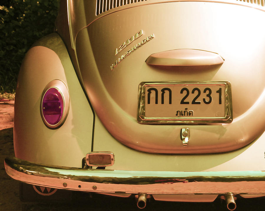 Volkswagen Beetle Car Photograph - Classic Vw Beetle In Thailand by Georgia Fowler