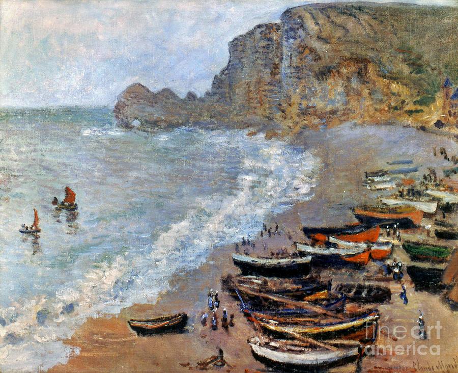 19th Century Photograph - Claude Monet: Etretat, 1883 by Granger