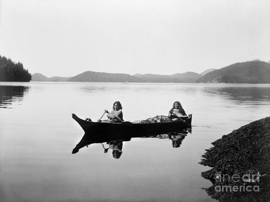 1910 Photograph - Clayoquot Canoe, C1910 by Granger