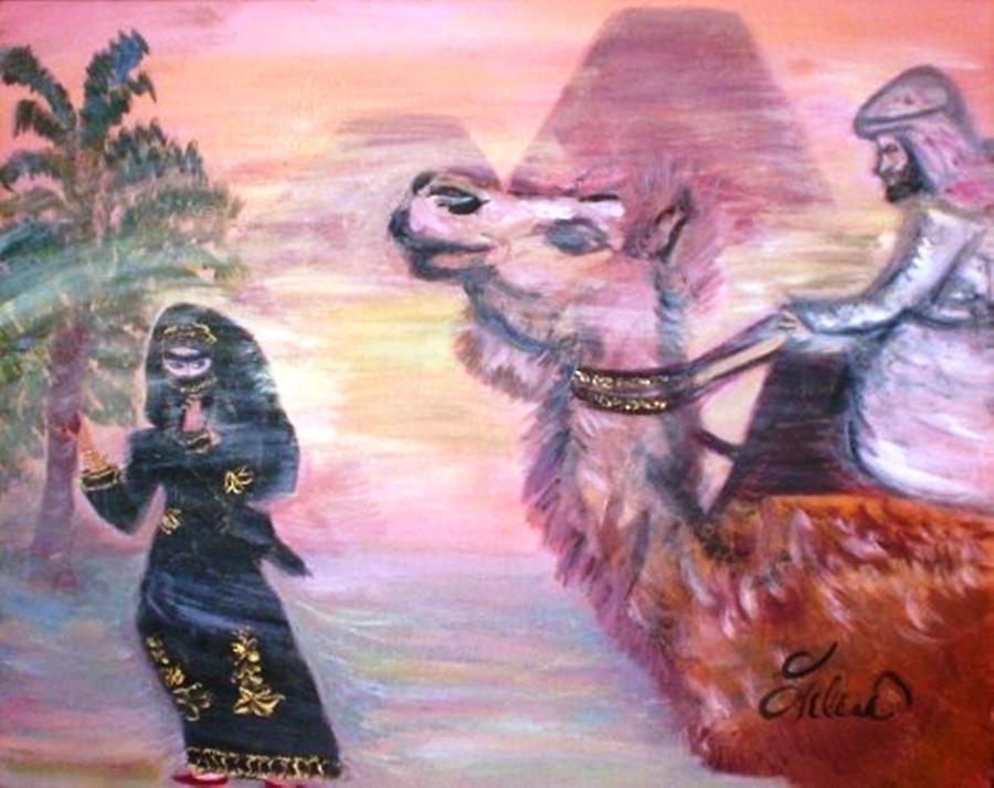 Arabiancamel Painting - Cleo by Helena Bebirian