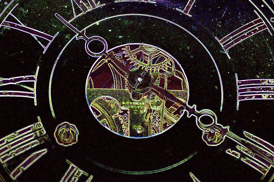 Clock Digital Art - Clockwork by Holly Ethan