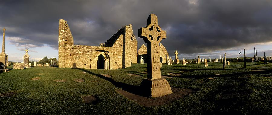 Abbey Photograph - Clonmacnoise Monastery, Co Offaly by The Irish Image Collection