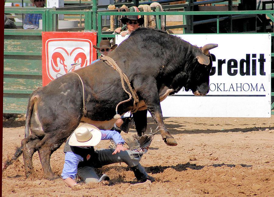 Rodeo Photos Photograph - Close Calls by Cheryl Poland