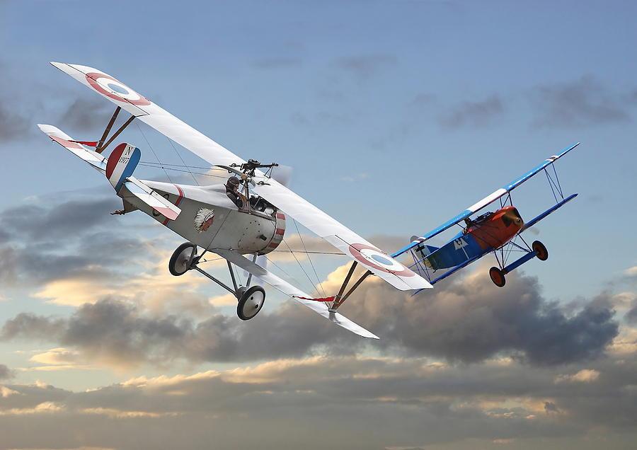 Aircraft Digital Art - Close Quarters by Pat Speirs