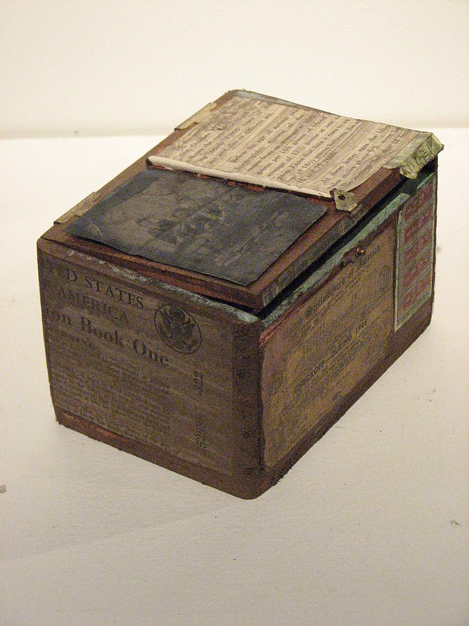 War Rations Sculpture - Closed Worry Box by Kyle Ethan Fischer