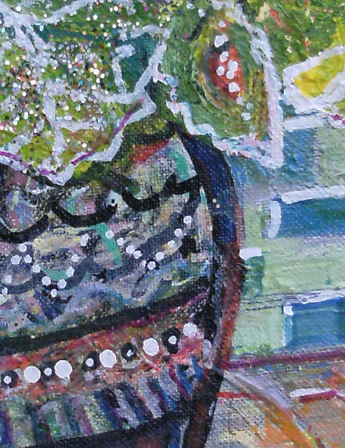Closer View Of Painted Ladies Painting Mixed Media