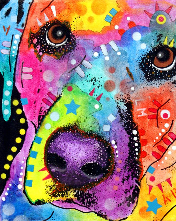 Closeup Labrador Painting