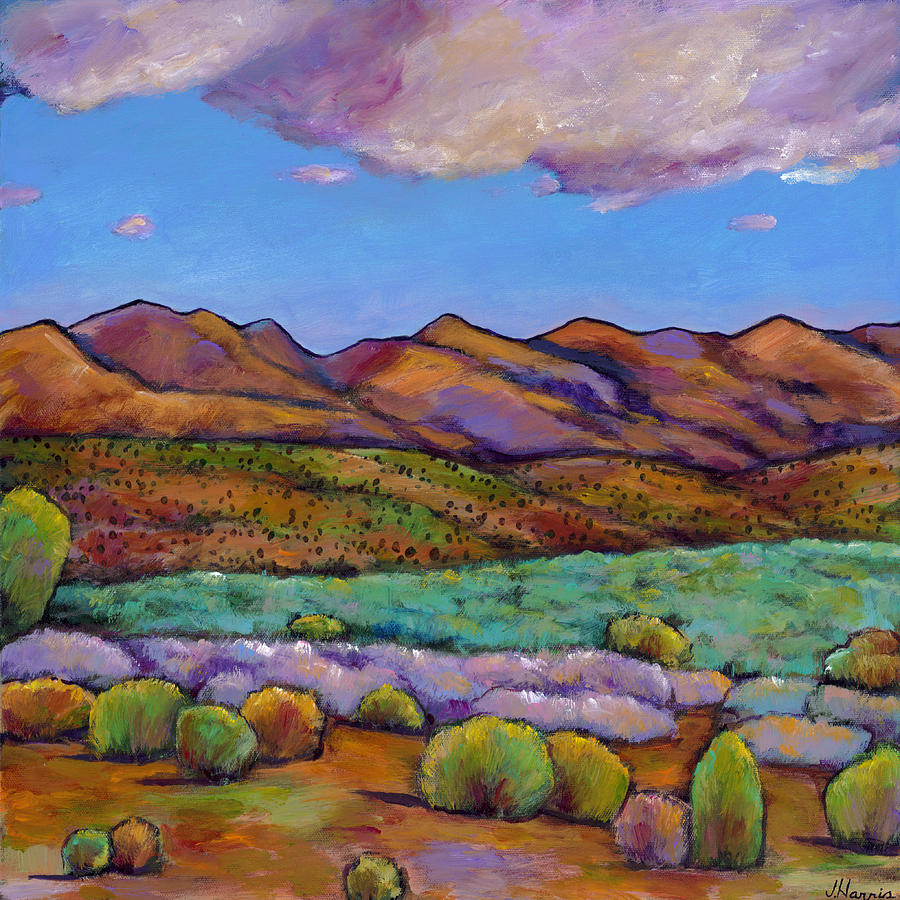Southwest Landscape Painting - Cloud Cover by Johnathan Harris