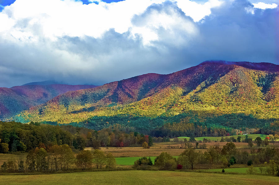 Smokey Mountains Photograph - Cloud Covered Peaks by DigiArt Diaries by Vicky B Fuller