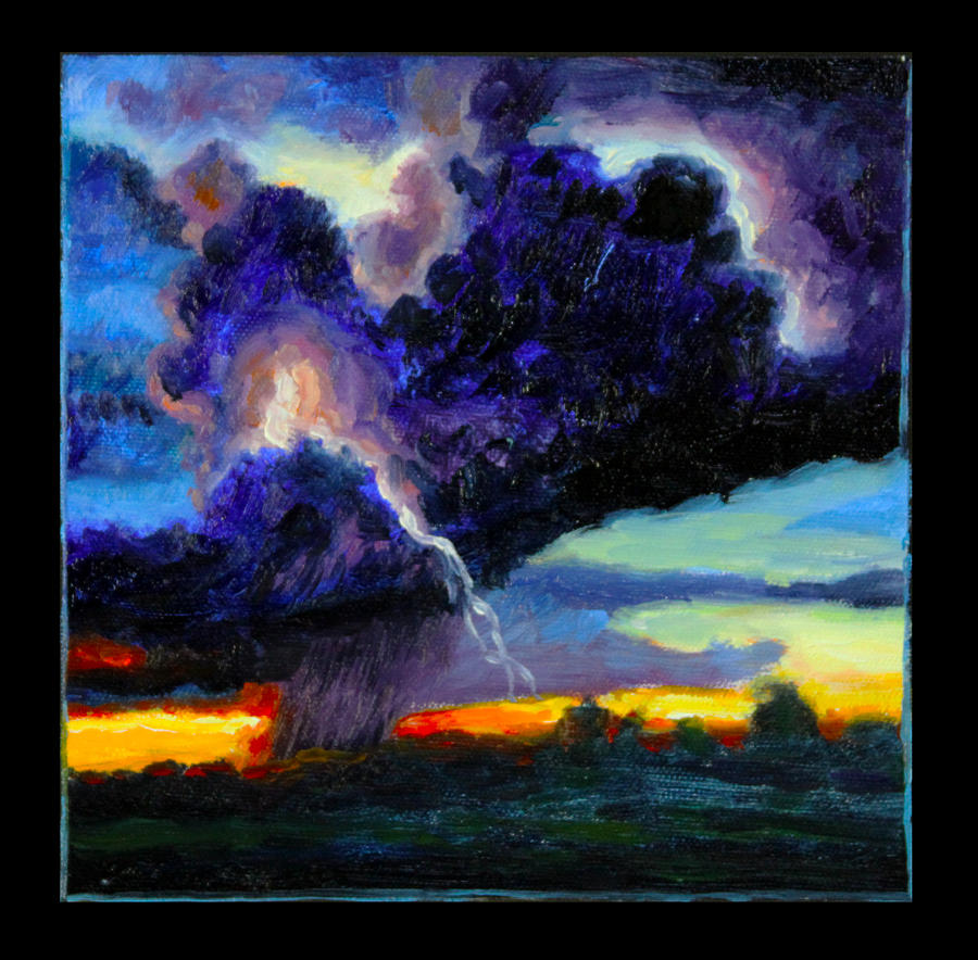 Dark Clouds Painting - Clouds Number Six by John Lautermilch