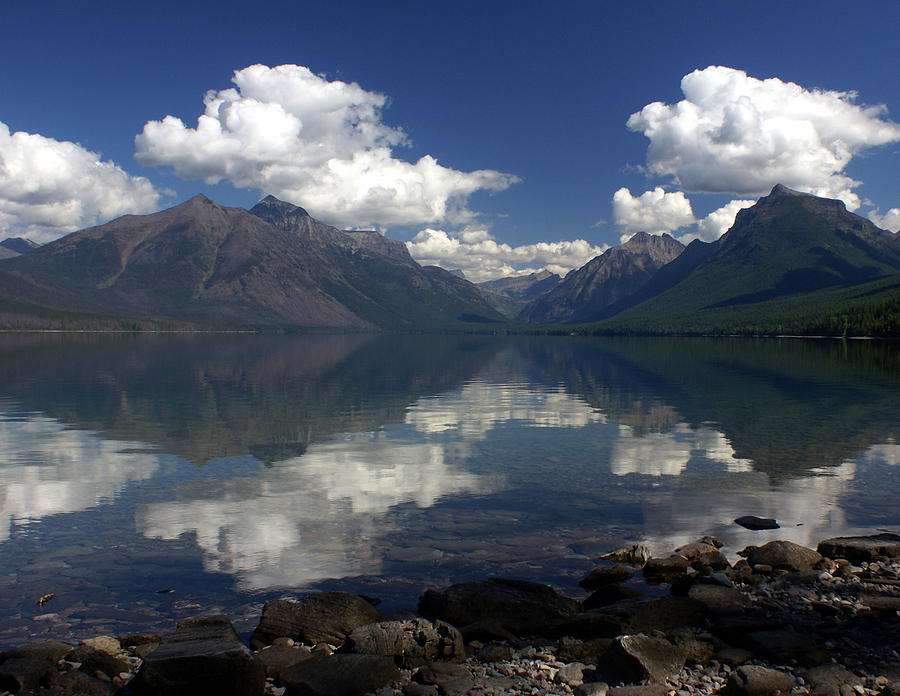 Reflections Photograph - Clouds On The Water by Marty Koch