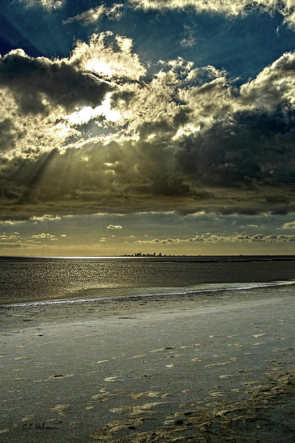 Beach Photograph - Clouds Over The Bay by Christopher Holmes