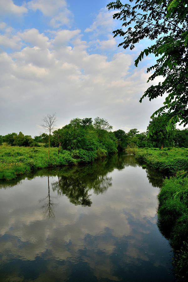 Clouds Roll In Over Nippersink Creek In Glacial Park Photograph