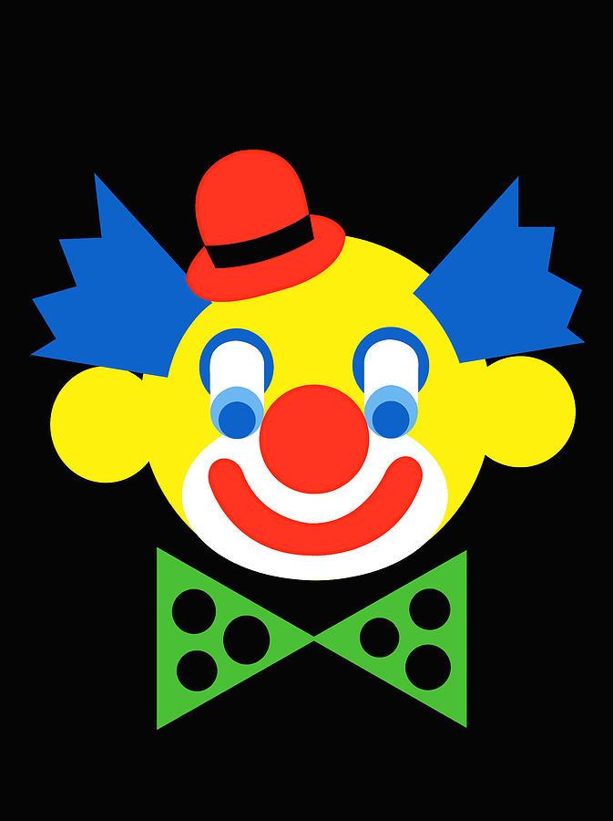 Clown Digital Art - Clown by Asbjorn Lonvig