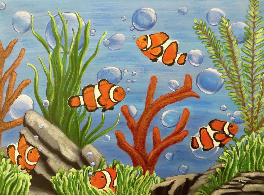 Back to teresa wing art gt paintings gt clownfish paintings