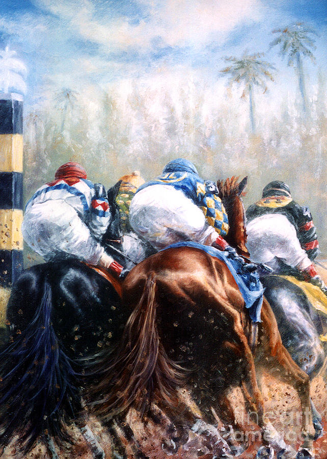 Gulfstream Park Painting - Clubhouse Turn At Gulfstream by Thomas Allen Pauly