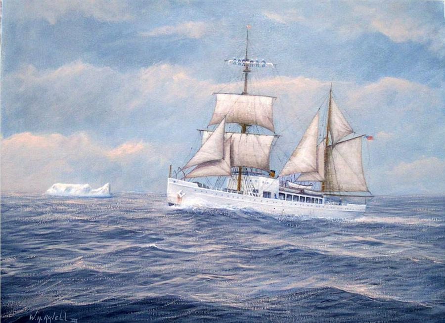 Coast Guard Painting - Coast Guard Cutter Northland by William H RaVell III