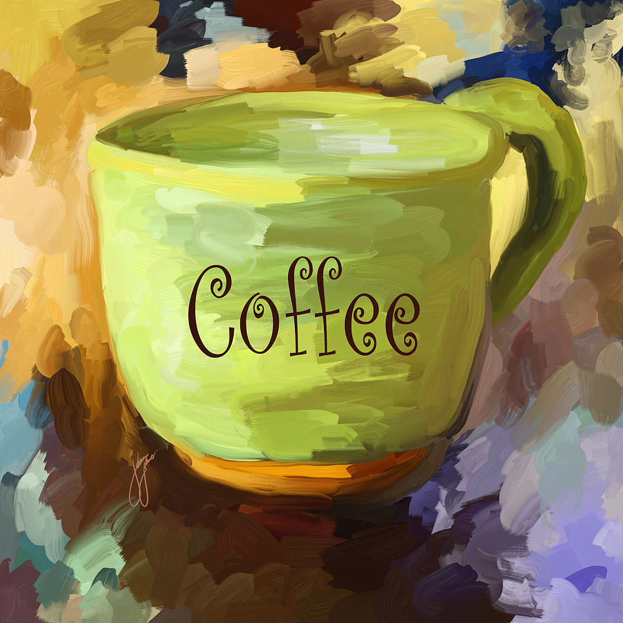 Coffee cup painting by jai johnson for Coffee watercolor