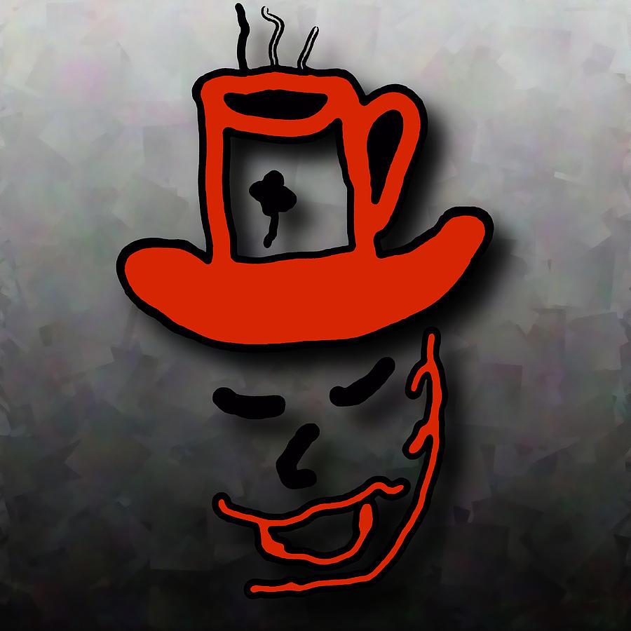 Coffee Hat Man Digital Art