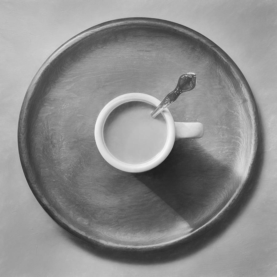 Coffee On A Wooden Tray Photograph