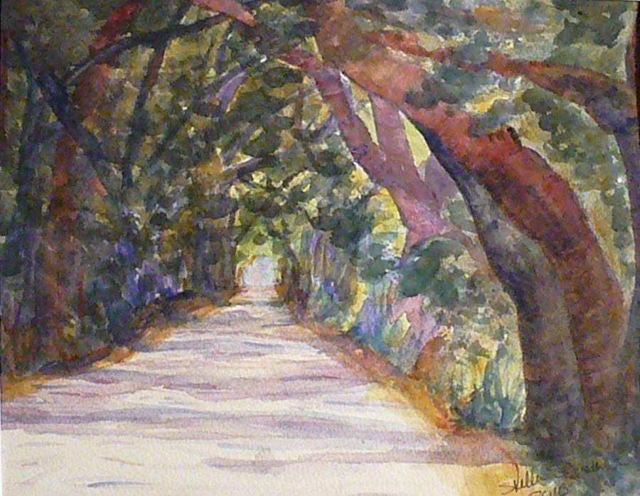 Landscape Painting - Coffin Point Road by Stella Schaefer