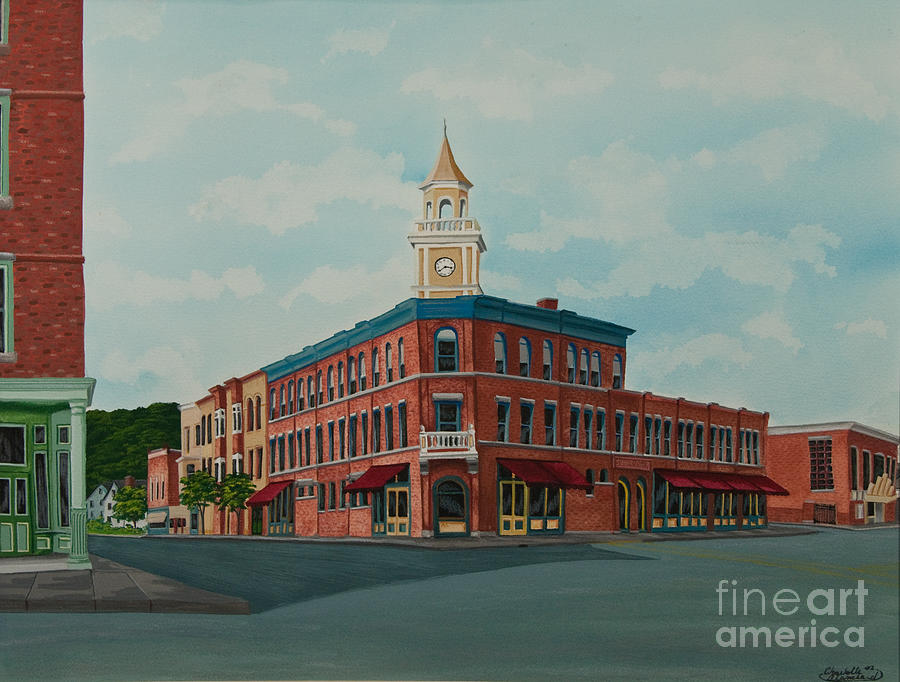 Colgate Book Store Painting - Colgate Bookstore by Charlotte Blanchard