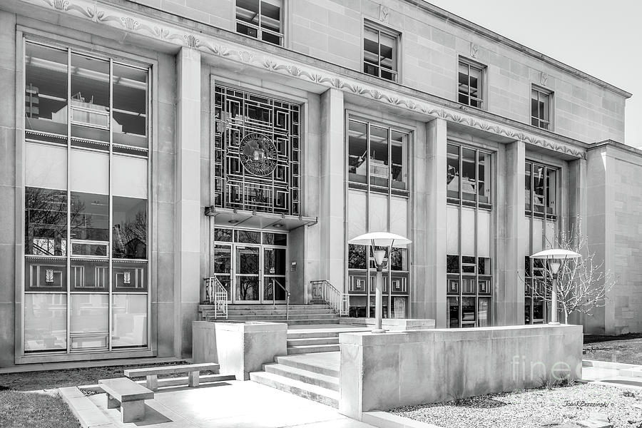 College Of Wooster Photograph - College Of Wooster Andrews Library by University Icons