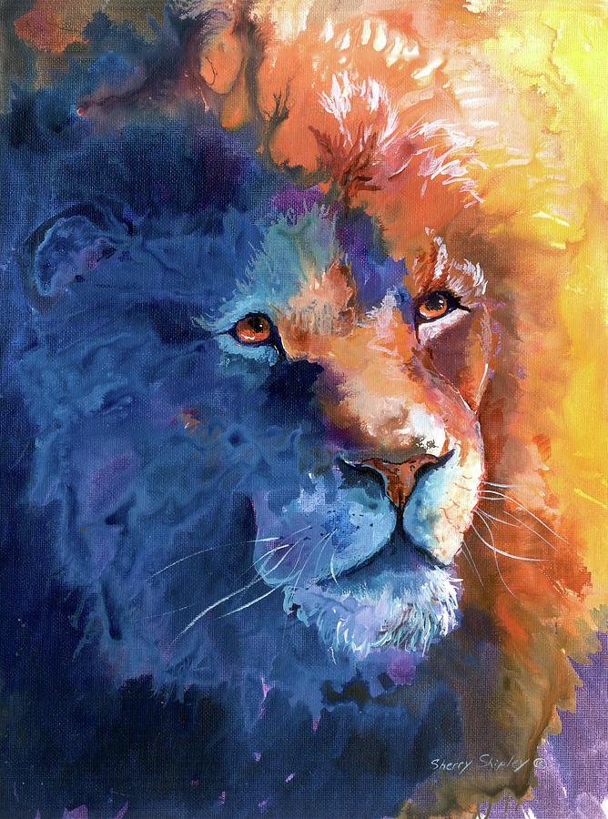 Color Lion Painting Colorful Lion Paintings