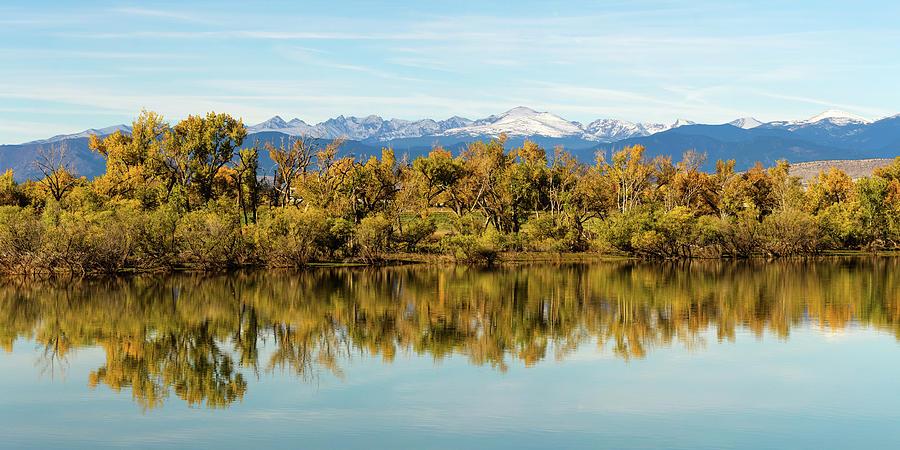 Colorado Continental Divide Autumn Reflections Panorama Photograph