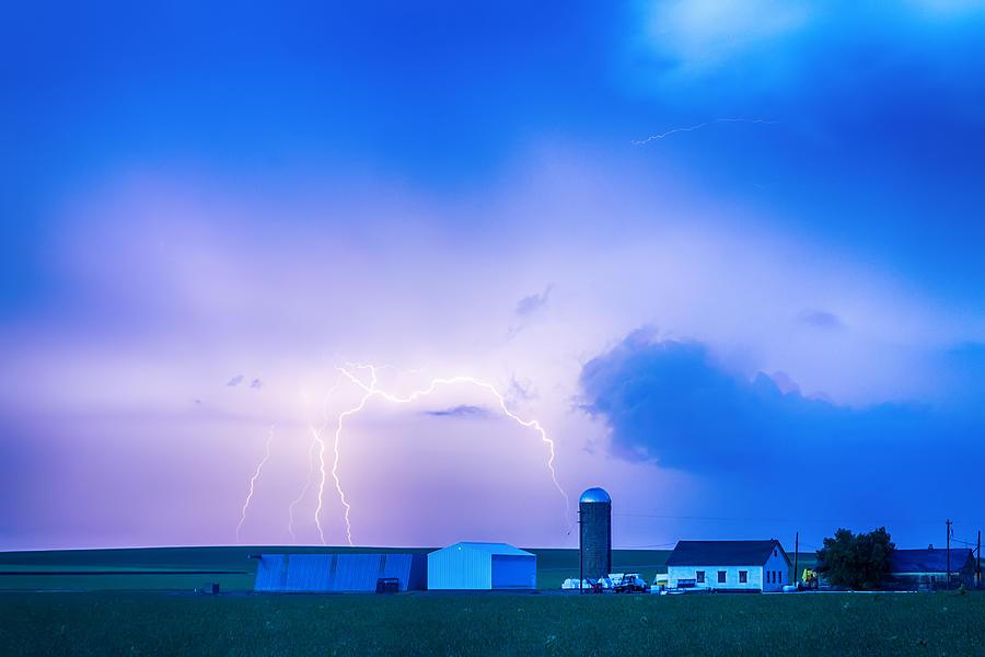 Colorado Country Lightning Storm Photograph